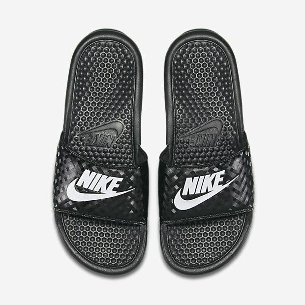 Nike Benassi JDI 拖鞋 男鞋 女鞋 鑽石 菱格紋 黑白 【運動世界】 343881-011