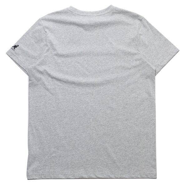 KANGOL 短T 彩色刺繡LOGO 灰色 袋鼠 棉 男 (布魯克林) 6021101212