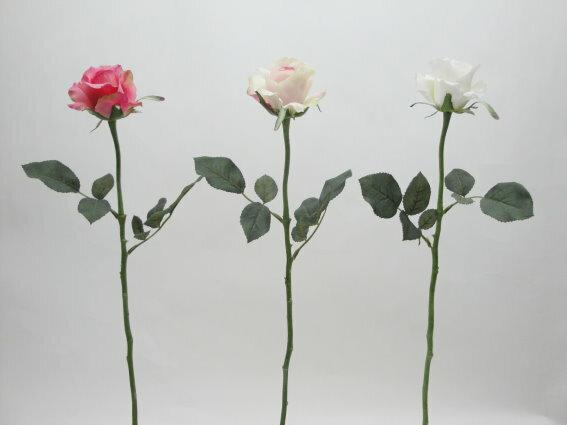 ★超低價★23吋 愛莉絲玫瑰-乳白 / 人造花 空間 景觀 佈置 造景