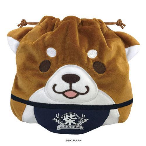 日本柴犬束口袋收納袋有耳朵大臉款496377代購