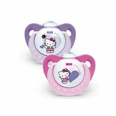 ★衛立兒生活館★NUK Hello Kitty 安睡型矽膠安撫奶嘴(初生型/一般型)2入(帶蓋)