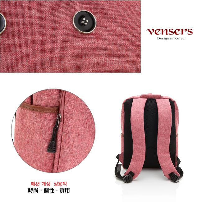【vensers】簡約丹寧牛仔後背包(R00061605粉色) 4
