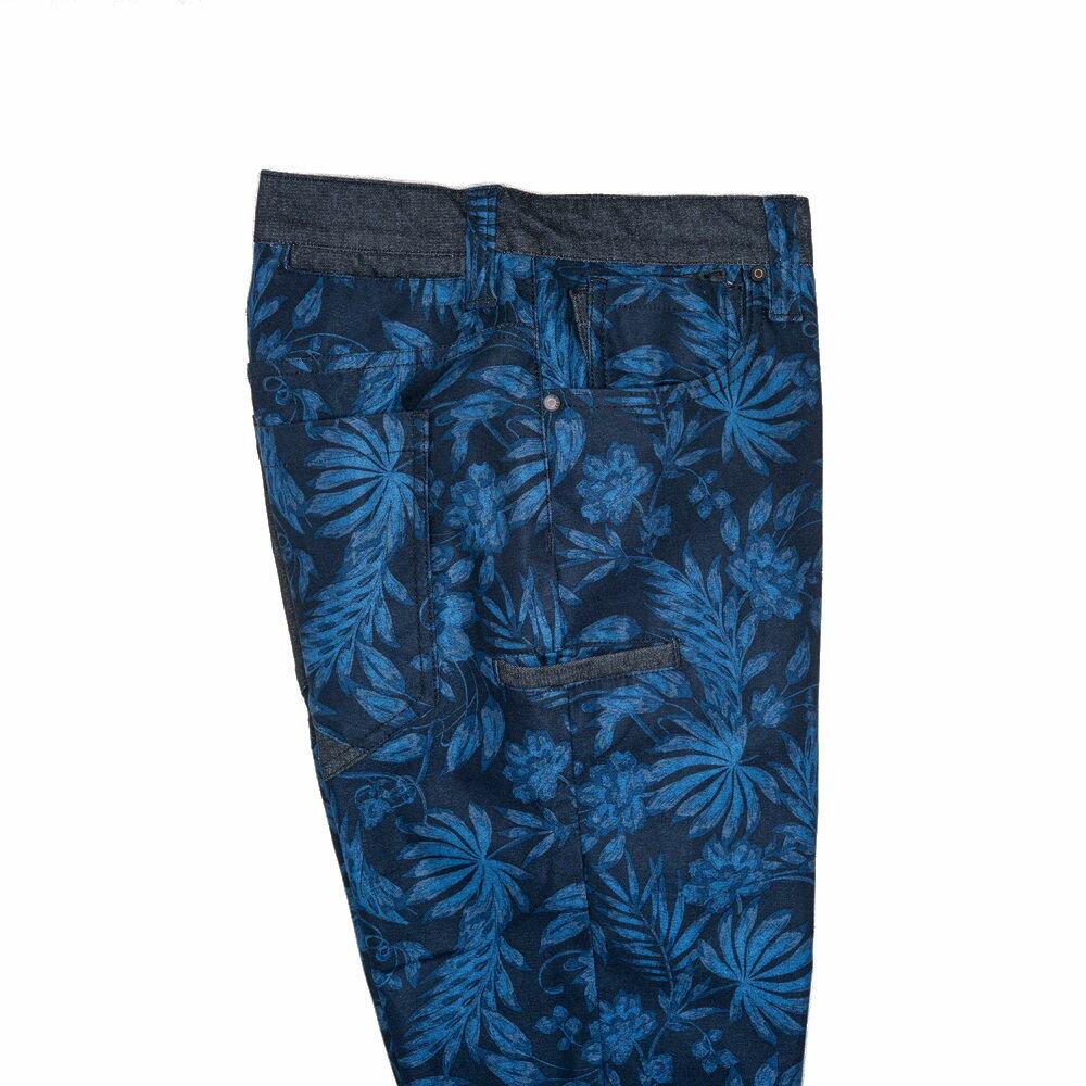 機能保暖暗藍花紋修身九口袋休閒長褲 TOKYO CLASSIC NIGHT FLOWER 9 POCKETS (SlimFit) 2