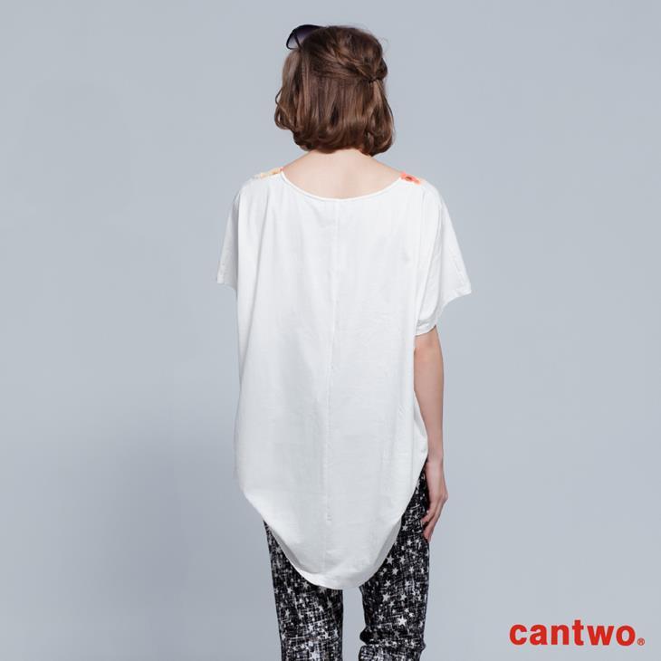 cantwo拼接印花長版T(共二色) 3