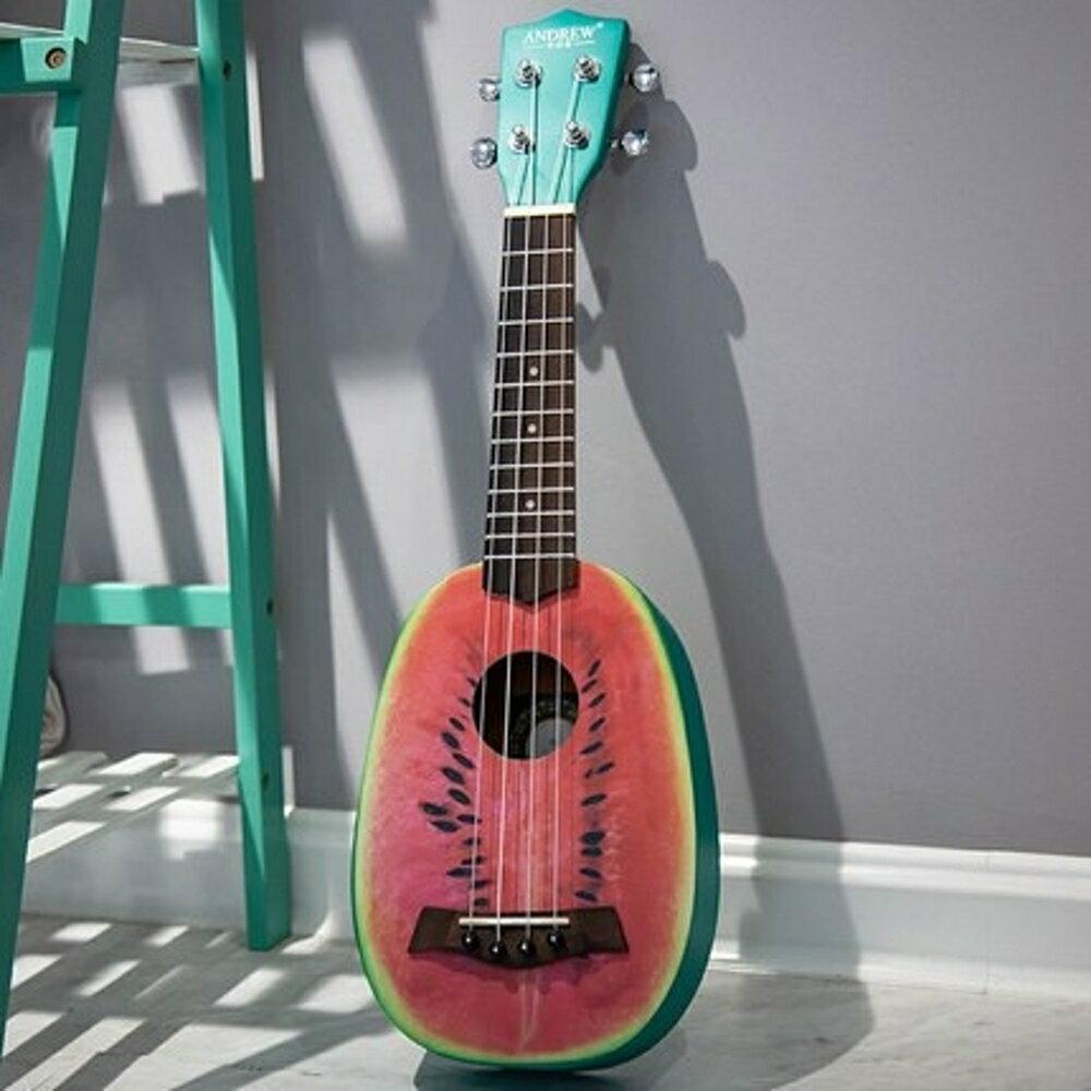 烏克麗麗 安德魯彩色ukulele尤克里里21寸23寸烏克麗麗初學者夏威夷小吉他 曼慕衣櫃 0