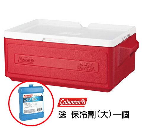 Coleman 23.5L 置物型冰桶 CM-1325 紅(買就送CM-03562M保冷劑一個)