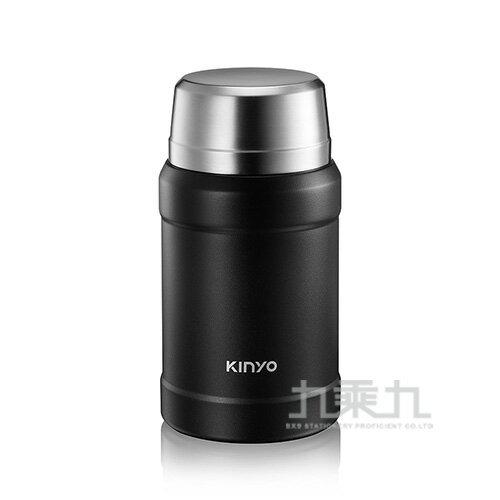 【618購物節 最低五折起】KINYO 316不鏽鋼真空燜燒罐 - 黑 800ml