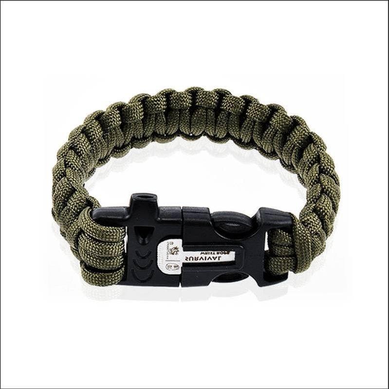 K2 多功能求生手環 (求生哨.切割器/打火器.鎂棒.點火.傘繩)