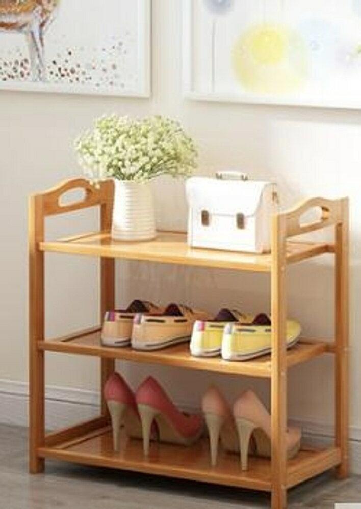 鞋架多層簡易防塵家用經濟型組裝家里人門口鞋櫃實木多功能QM       全館八五折