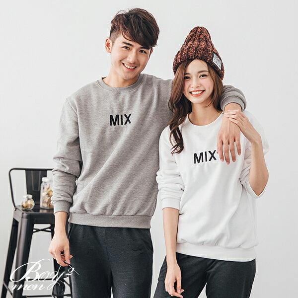 ☆BOY-2☆  【ND5871】情侶美式電繡MIX刷毛大學T恤 3