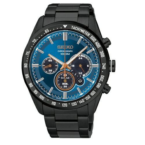 SEIKO Criteria 率性太陽能計時腕錶  V175~0DK0A  SSC471P