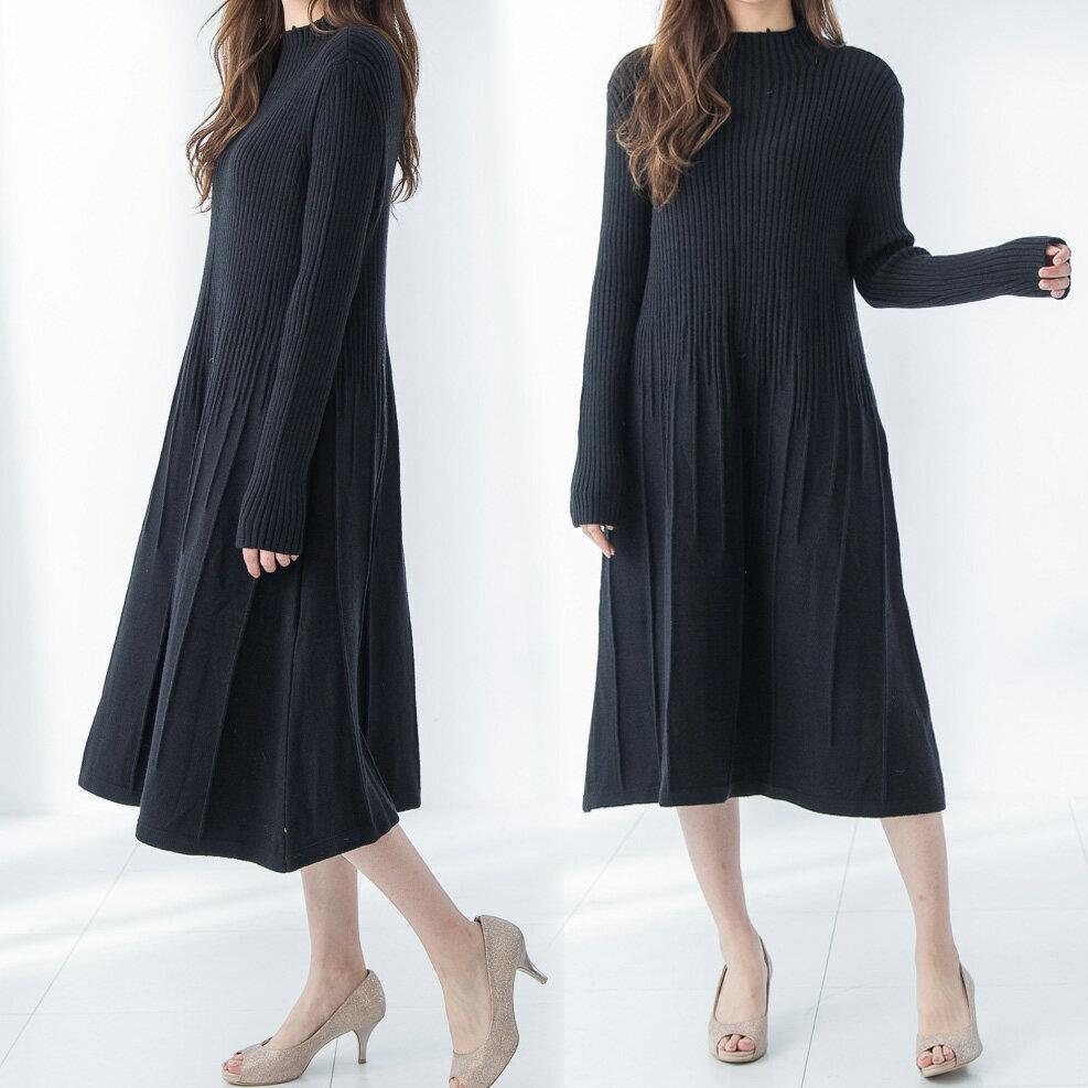 修身加厚針織長洋裝(2色)