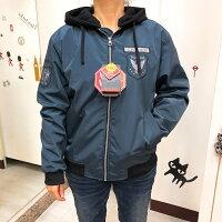 飛行外套推薦到免運 藍 韓國製 防水 防風 風衣 帽子 外套 夾克  女裝 男裝就在亓服飾行推薦飛行外套