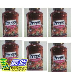 [COSCO代購 如果售完謹致歉意] W918717 Prego 普格 原味義大利麵醬 1.27公斤 (六入裝)