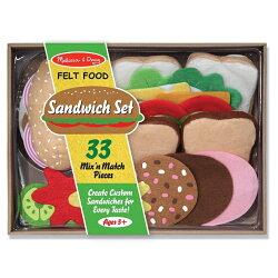 美國瑪莉莎 Melissa & Doug 玩食趣毛氈三明治組