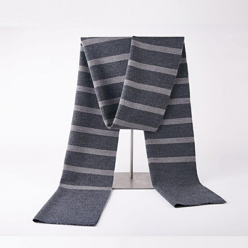 圍巾針織披肩-條紋拼色休閒羊毛男配件4色73wi86【獨家進口】【米蘭精品】