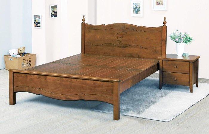 【石川家居】SN-8-6 公主5尺實木雙人床架 (不含其他商品) 台中到高雄搭配車趟免運