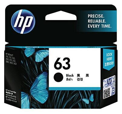 惠普HP F6U62AA NO.63 原廠黑色墨水匣(列印量約190頁)★★★全新原廠公司貨含稅附發票★★★