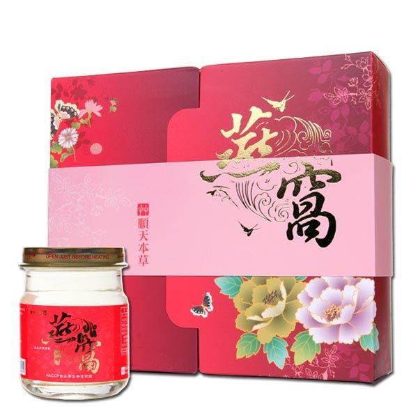 【順天本草】冰糖燕窩禮盒 送禮/自用2相宜 6罐入/盒 附提袋 1200元