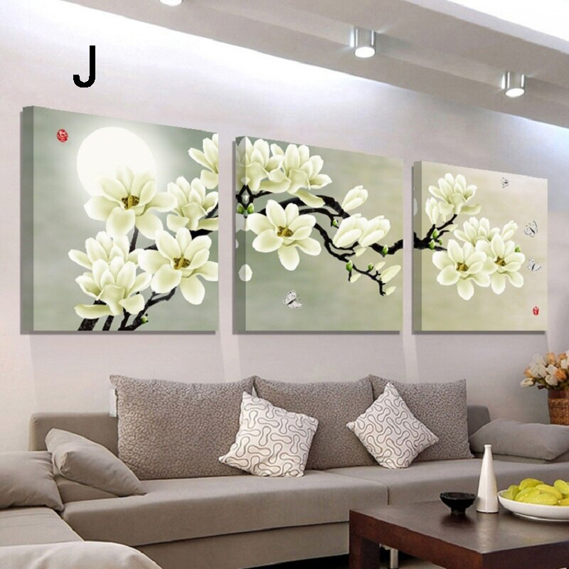 掛畫三件組【RS Home】北歐麋鹿無框掛畫相框木質壁畫裝飾畫板民宿攞飾油畫掛鐘掛畫 8