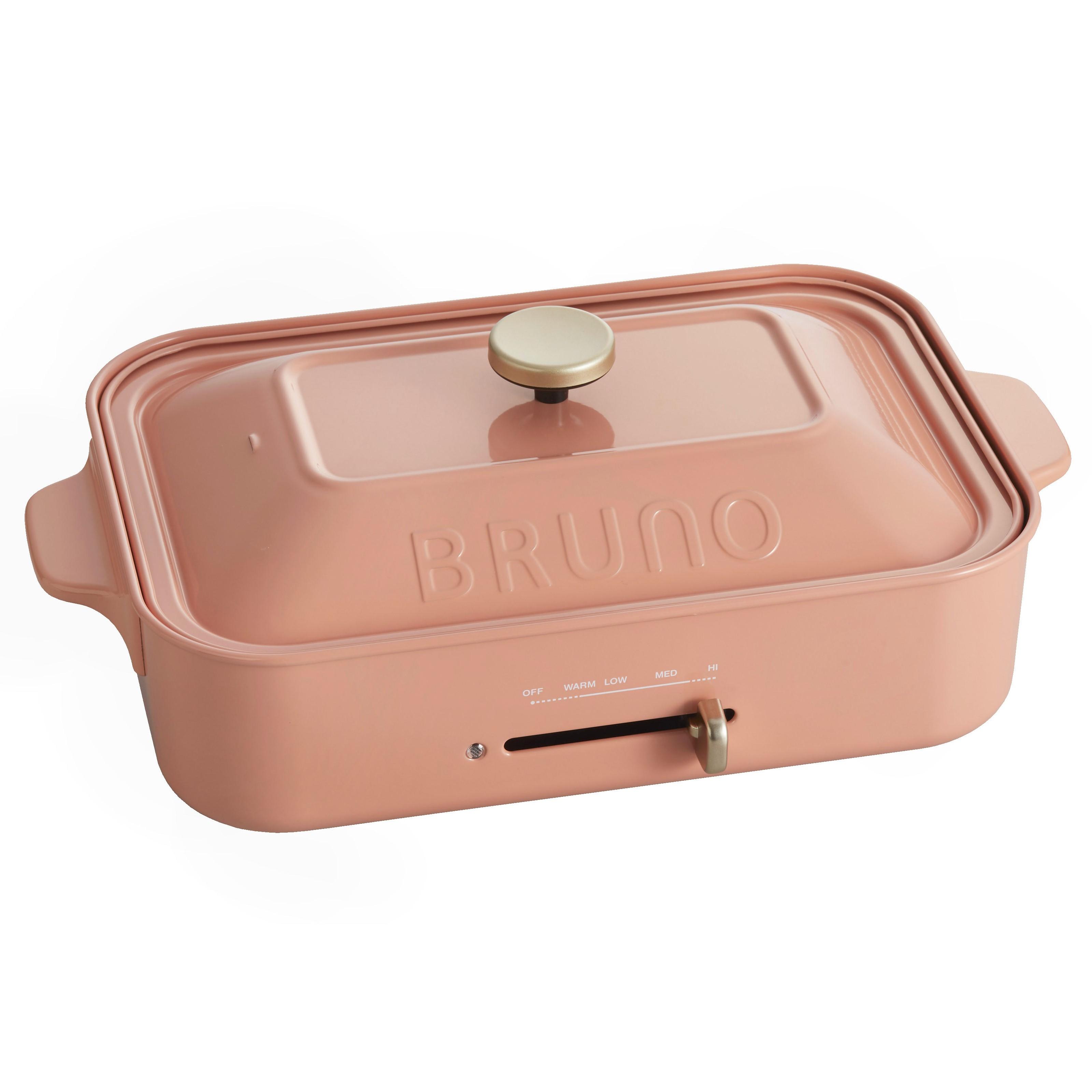 5%回饋【日本BRUNO】多功能鑄鐵電烤盤(珊瑚粉) 公司貨