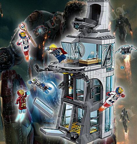 DECOOL 7114 超級英雄復仇者聯盟 鋼鐵人大廈 益智積木 兼容樂高 另有旋風忍者