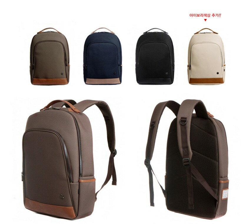 韓國代購 高品質 簡約男性公事14.15吋筆電雙背包 經典包 1