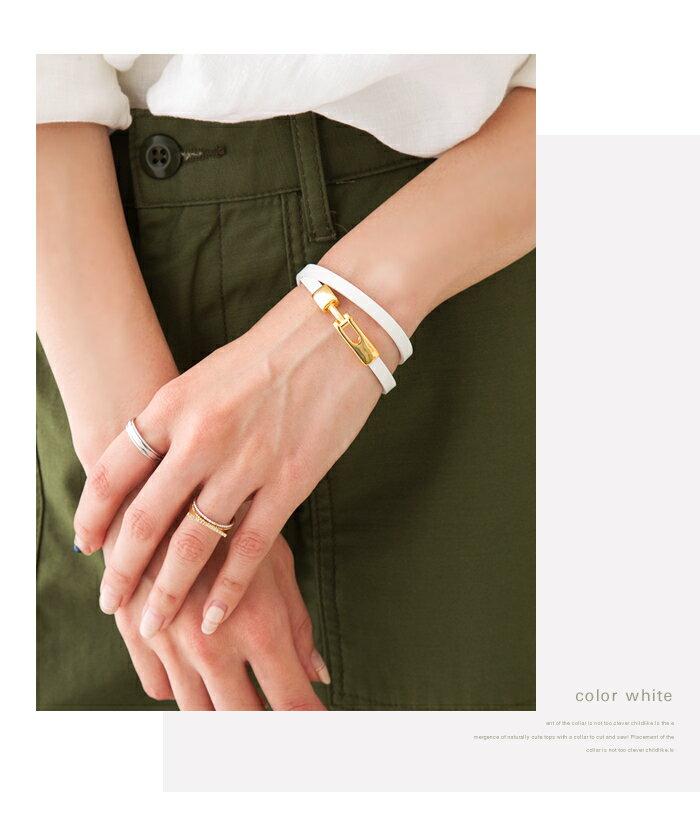 cream-dot 簡約設計高級真皮手環 / a00956。5色。(1680)日本必買 日本樂天代購 8