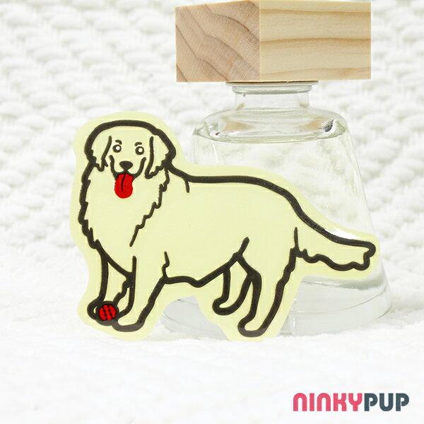 [反光貼紙] 黃金獵犬 5.8*8.1 cm
