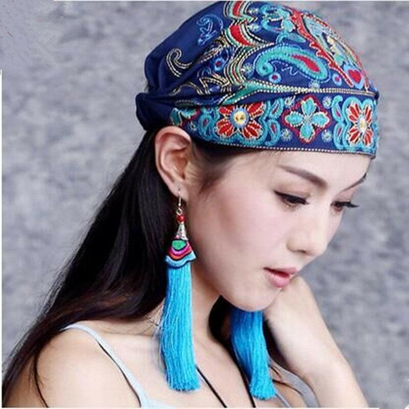 云南原創特色飾品配飾民族風女復古氣質波西米亞流蘇長款耳環耳墜