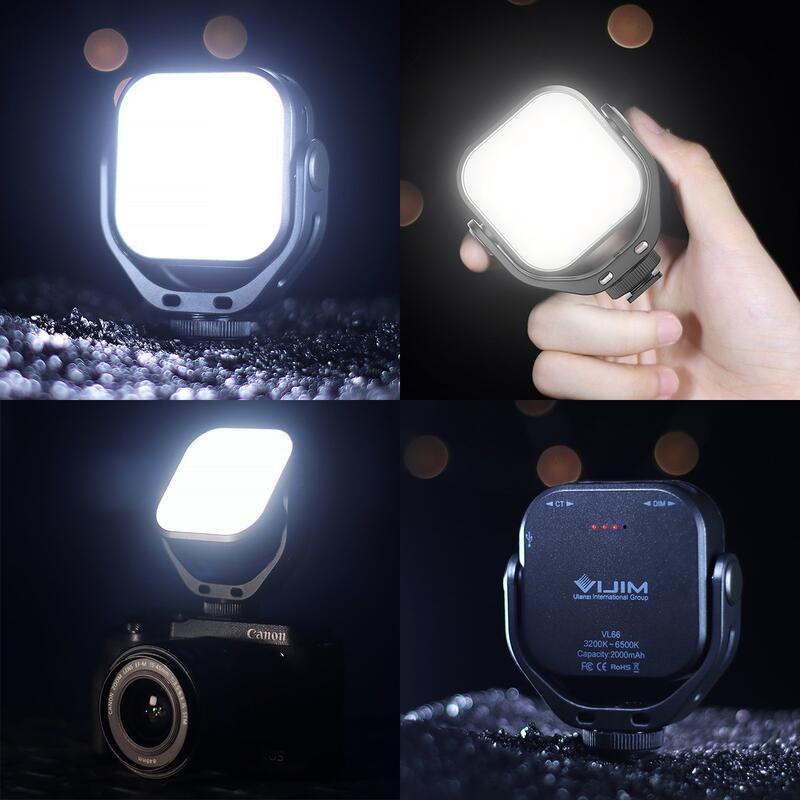 【中壢NOVA-水世界】Ulanzi VL66 雙色溫 可調角度 LED燈 迷你補光燈 持續燈 亮度可調 自拍燈 微距