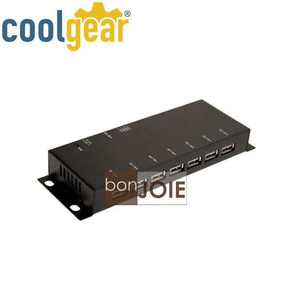 ::bonJOIE:: 美國進口 CoolGear Metal 7 Port USB 2.0 Powered Slim Hub 金屬外殼七孔集線器 (USBG-7U2ML) for PC-MAC 鐵殼..