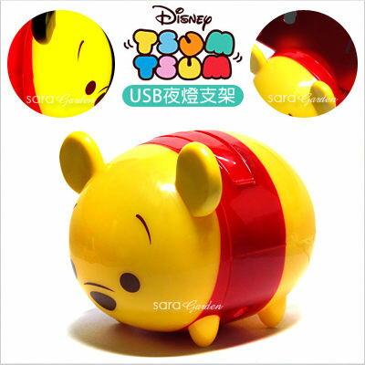 【限時下殺↘780 會員滿千現折100】正版 迪士尼 夜燈 Tsum Tsum 手機架 USB 檯燈 LED 手機座 史迪奇 小熊維尼 杯麵 大眼怪 米奇 三眼怪