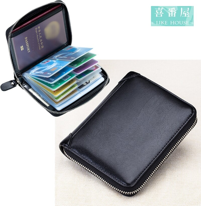 【喜番屋】日韓版真皮牛皮40卡位可放護照皮夾皮包錢夾零錢包卡片夾卡片包卡片套卡包卡夾卡套CB132