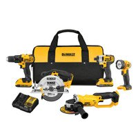 DEWALT DCK521D2 20V MAX Compact 5-Tool Combo Kit Deals