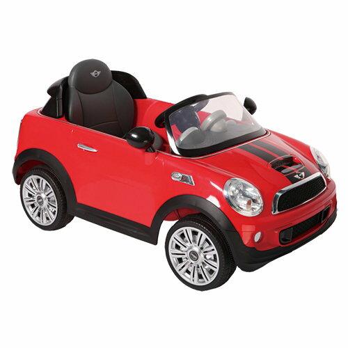 【淘氣寶寶】MiniCooperS雙馬達12V原廠遙控電動車四段變速【贈麵包超人飲料輔助器l】