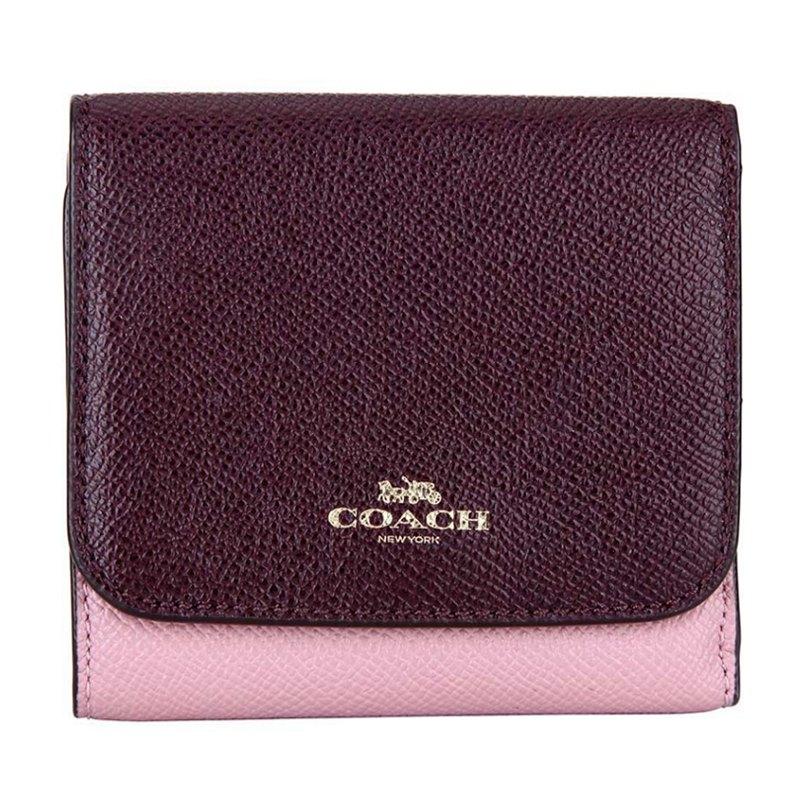 (Smile) COACH 女款皮質短款錢包錢夾 F57825