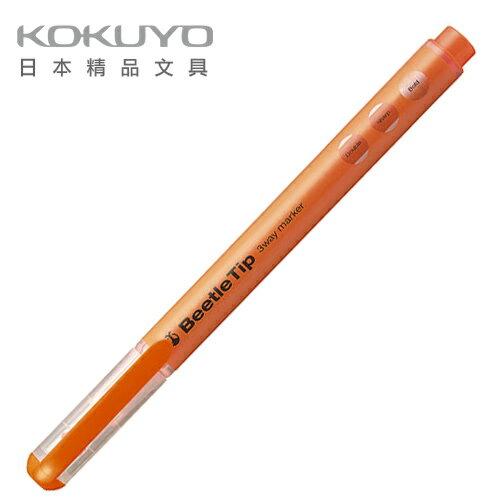 日本 KOKUYO  Beetle Tip獨角仙螢光筆 PM-L301YR-橘  / 支