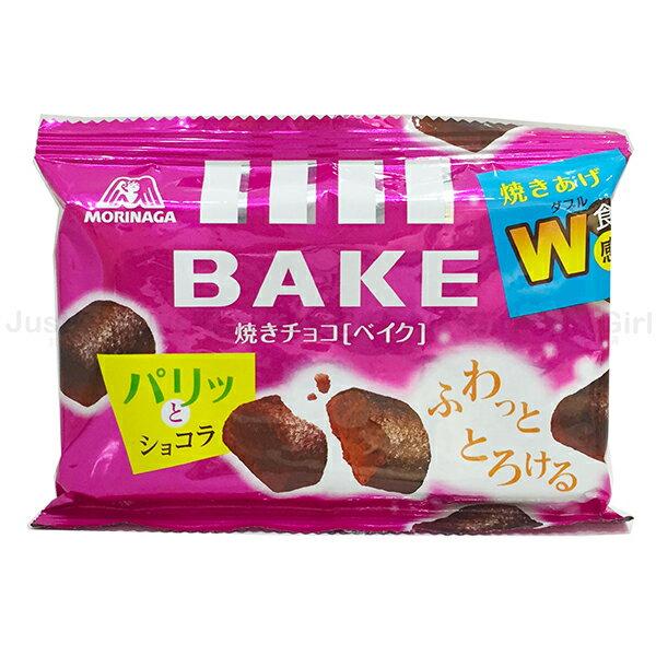森永 BAKE 烤巧克力 烘烤巧克力磚 10顆 38g 食品 日本製造進口 * JustGirl *