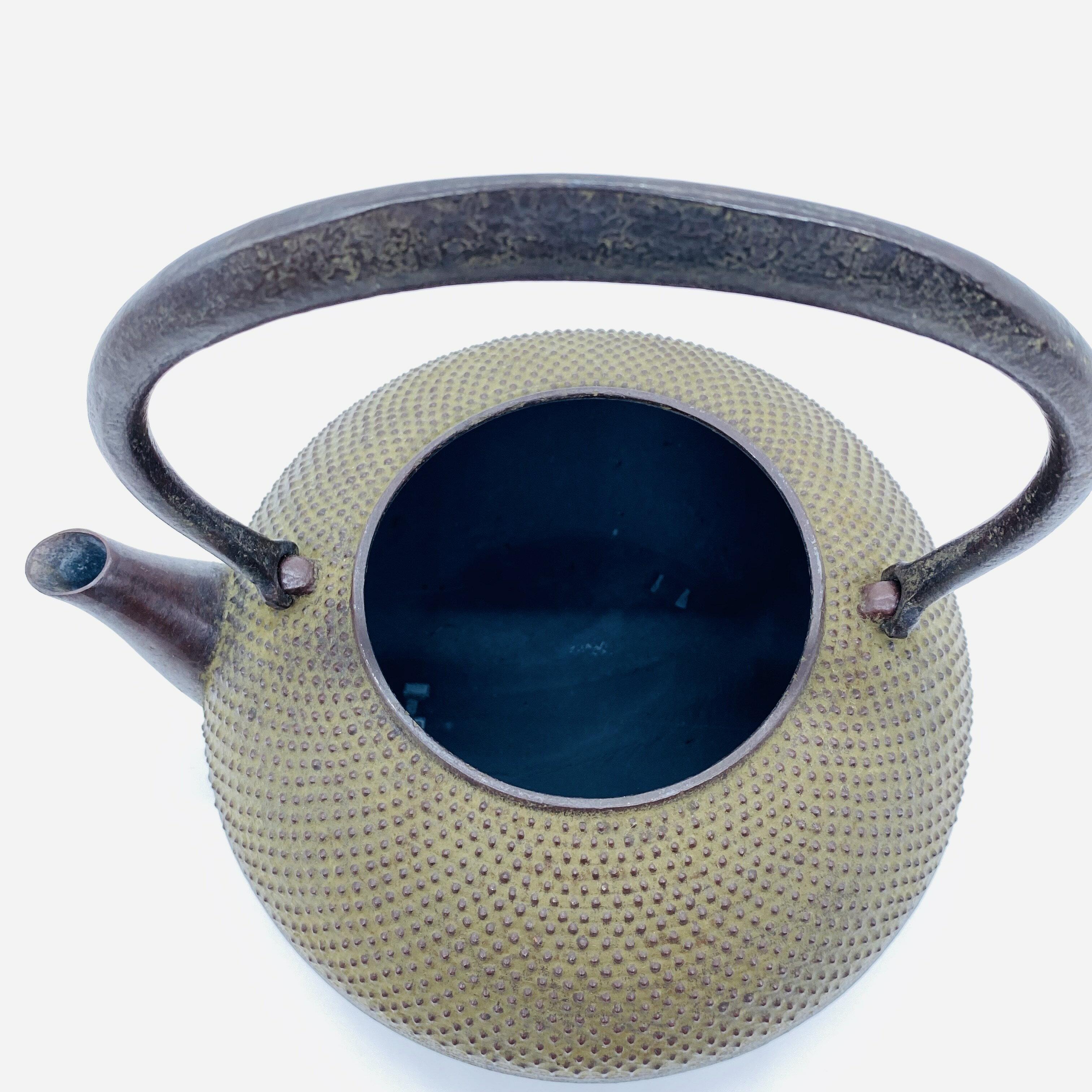 日本 本場南部鐵器-【佐藤勝久 平丸型 霰 1.5L】鐵壺 鉄瓶 煮水 泡茶 只有1個 1