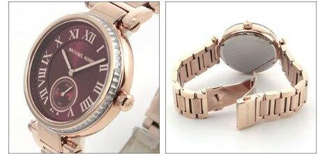 美國Outlet正品代購 MichaelKors MK 復古羅馬鑲鑽紅  陶瓷  三環 手錶 腕錶 MK6086 4