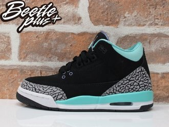 BEETLE PLUS NIKE AIR JORDAN 3 RETRO GS 黑綠 灰 爆裂紋 蒂芬妮綠 TIFFANY GREEN GLOW 441140-045
