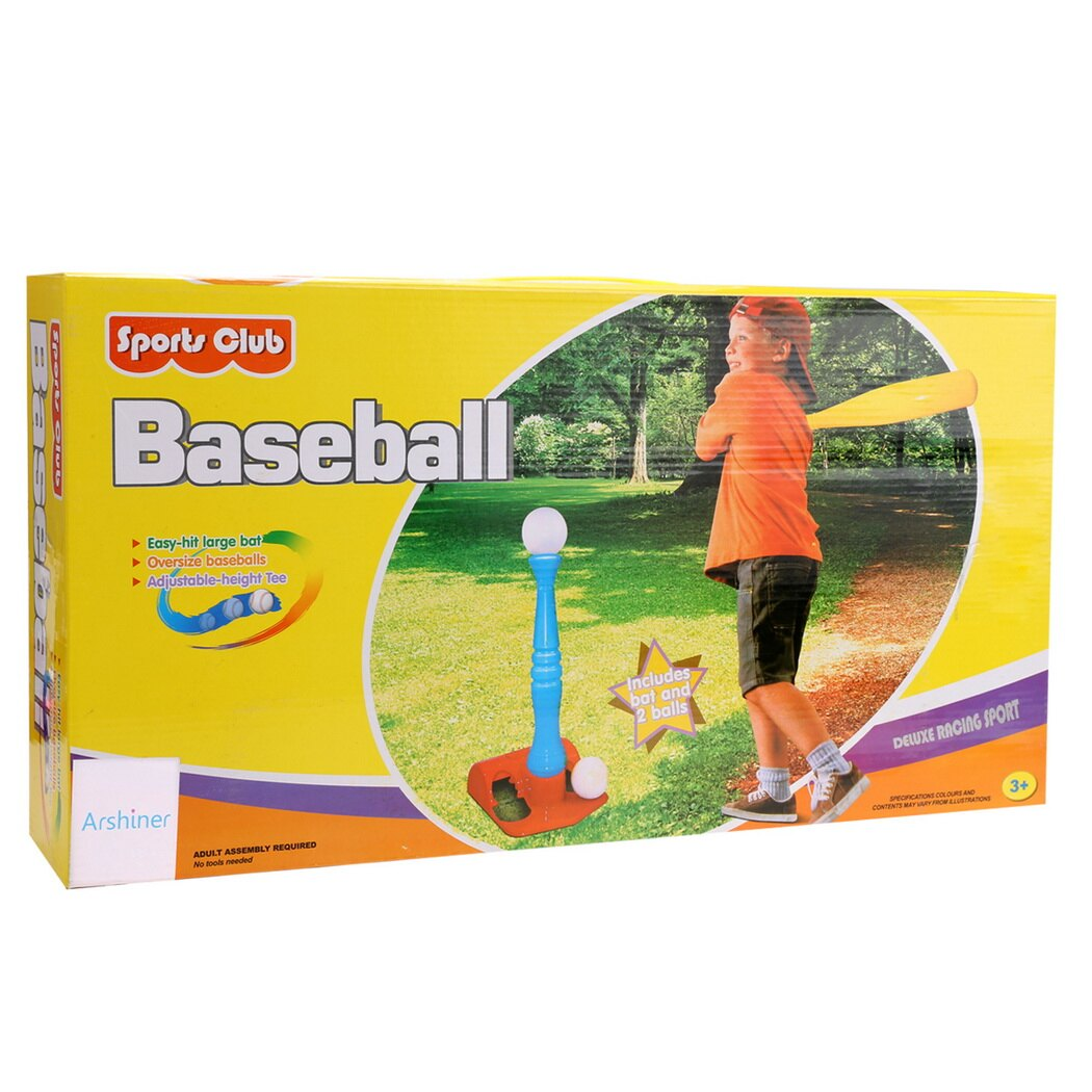 T-Ball Set, 2 Oversized Baseballs, Kids Sport tools 5