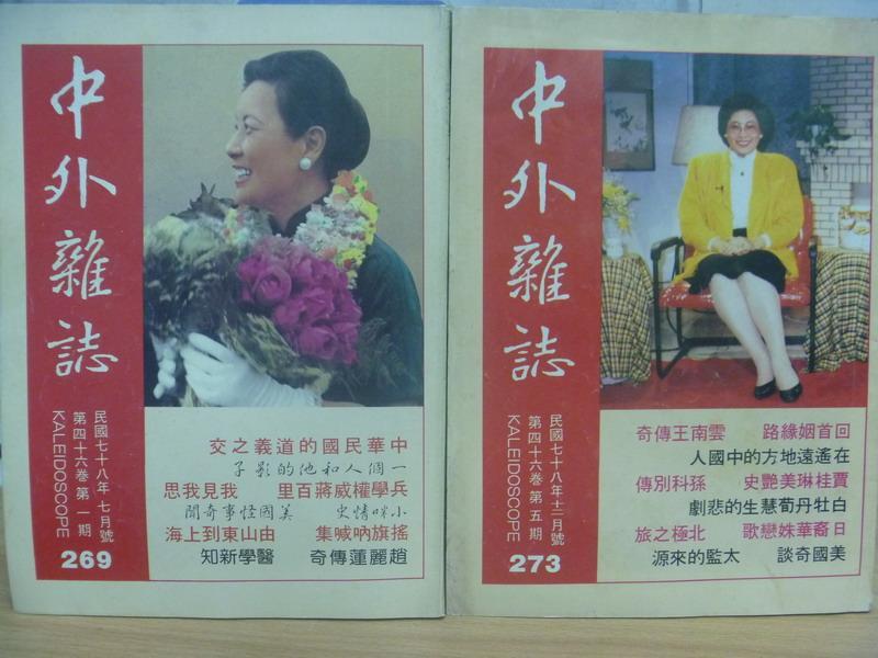 【書寶二手書T1/文學_XAV】中外雜誌_269&273期_共2本合售_中華民國的道義之交等