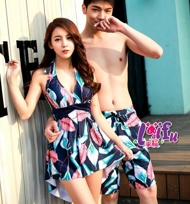來福,A96情侶泳衣深V陽光氣質前短後長情侶泳衣游泳衣泳裝比基尼,單男生泳褲售價580元