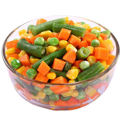 進口急凍有機認證蔬菜-綜合活力四色1公斤 0