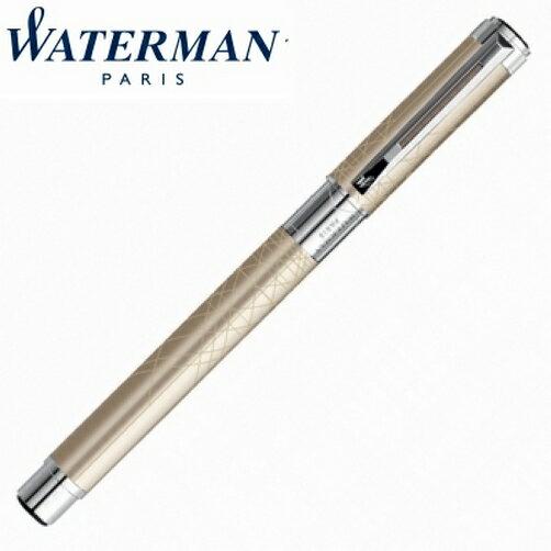 【華特曼WATERMAN】透視系列漆砂香檳白夾鋼珠筆W0831420支