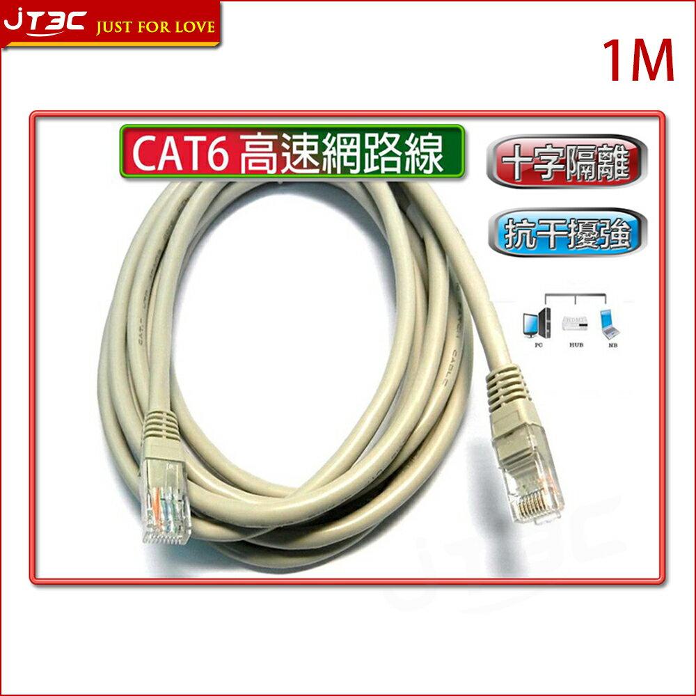 【點數最高16%】CAT6 高速網路線 1米 1M 1公尺《超商取貨滿$299免運》※上限1500點