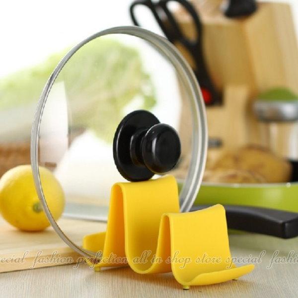 波浪型鍋蓋架 廚房多功能彩色刀具架(不挑色) 多層收納架【DX368】◎123便利屋◎