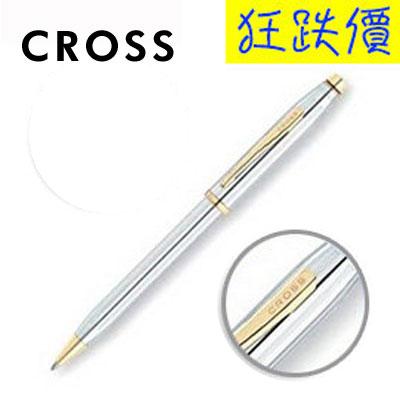 【CROSS】新世紀系列 3302WG 金鉻原子筆 / 支